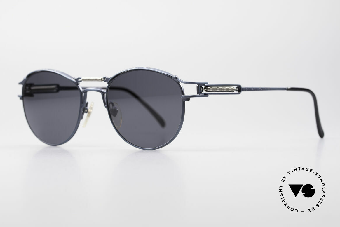 Jean Paul Gaultier 56-5107 Panto Designer Sunglasses, spring-loaded bridge and temples; just ingenious!, Made for Men and Women
