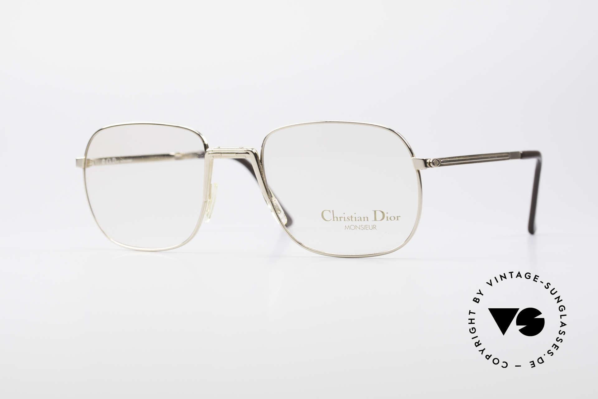 Christian Dior 2288 Monsieur Folding Eyeglasses, unique 1980's designer eyeglasses by Christian DIOR, Made for Men