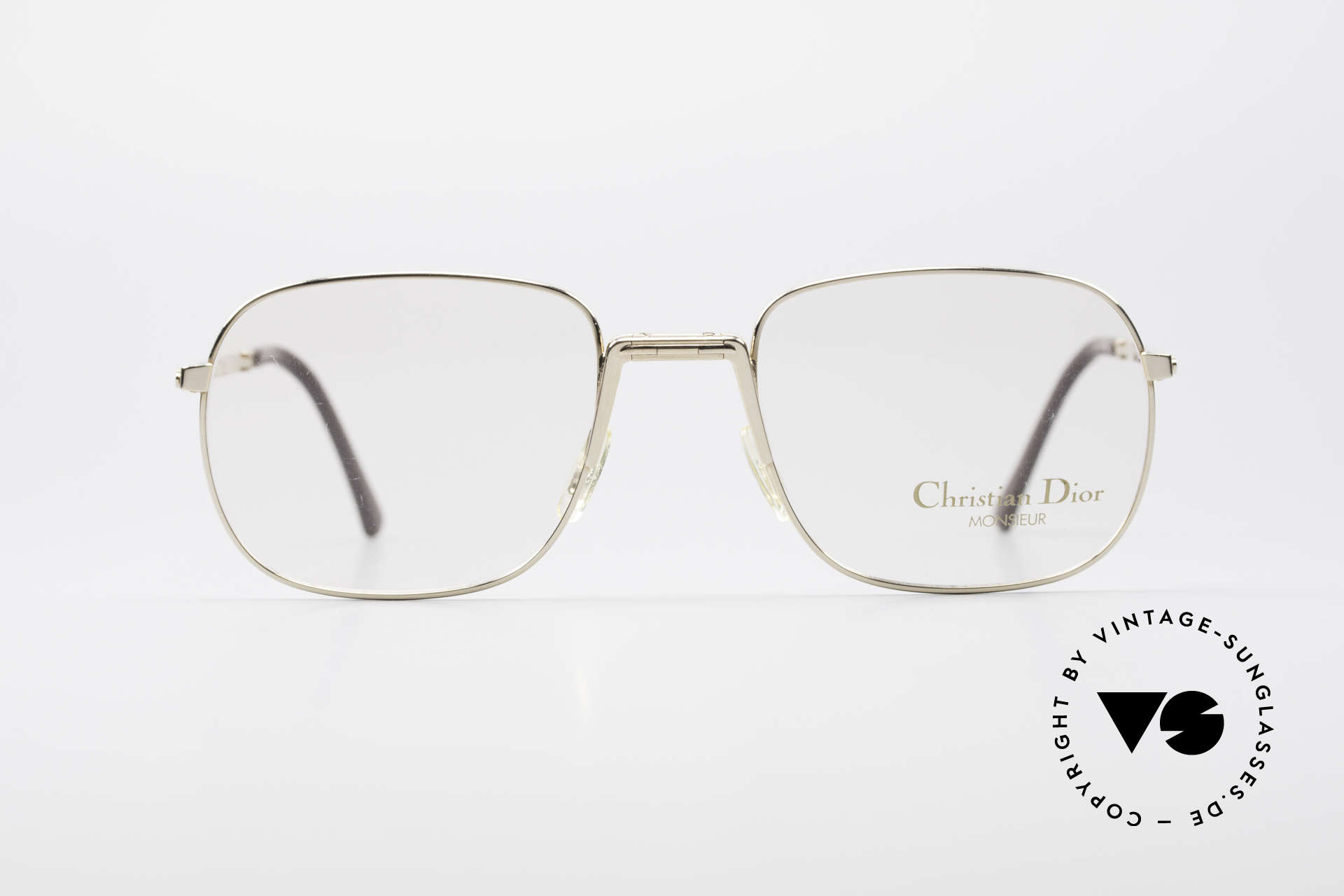 Christian Dior 2288 Monsieur Folding Eyeglasses, practical folding model in great quality (gold-plated), Made for Men