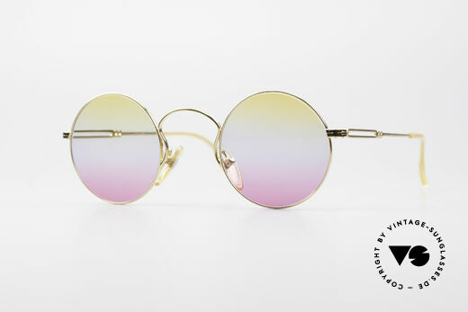 Jean Paul Gaultier 55-0172 Gold-Plated Round Frame Details