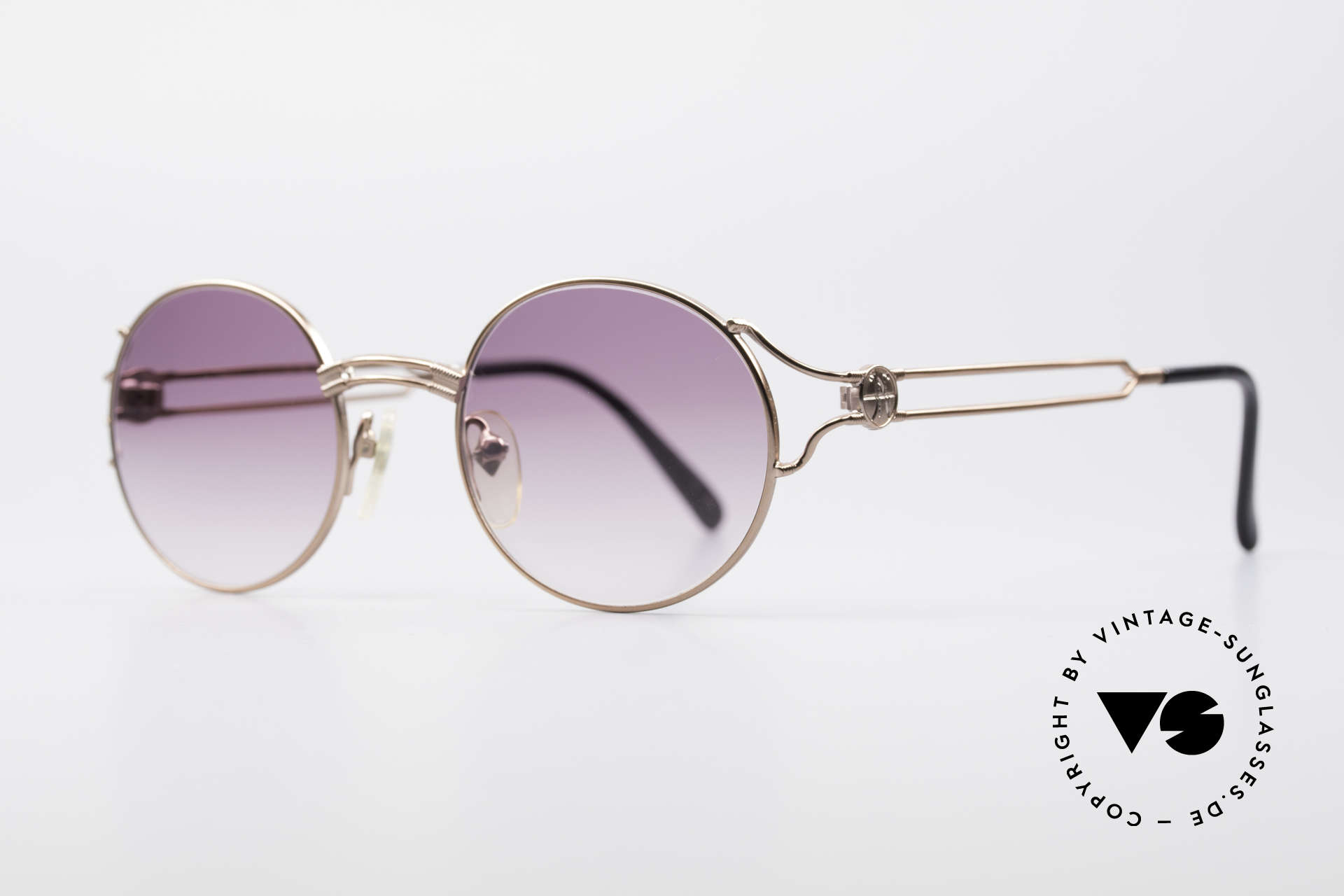 Jean Paul Gaultier 57-6102 Round Designer Sunglasses, timeless masterpiece; made in Japan (high-end quality), Made for Men and Women