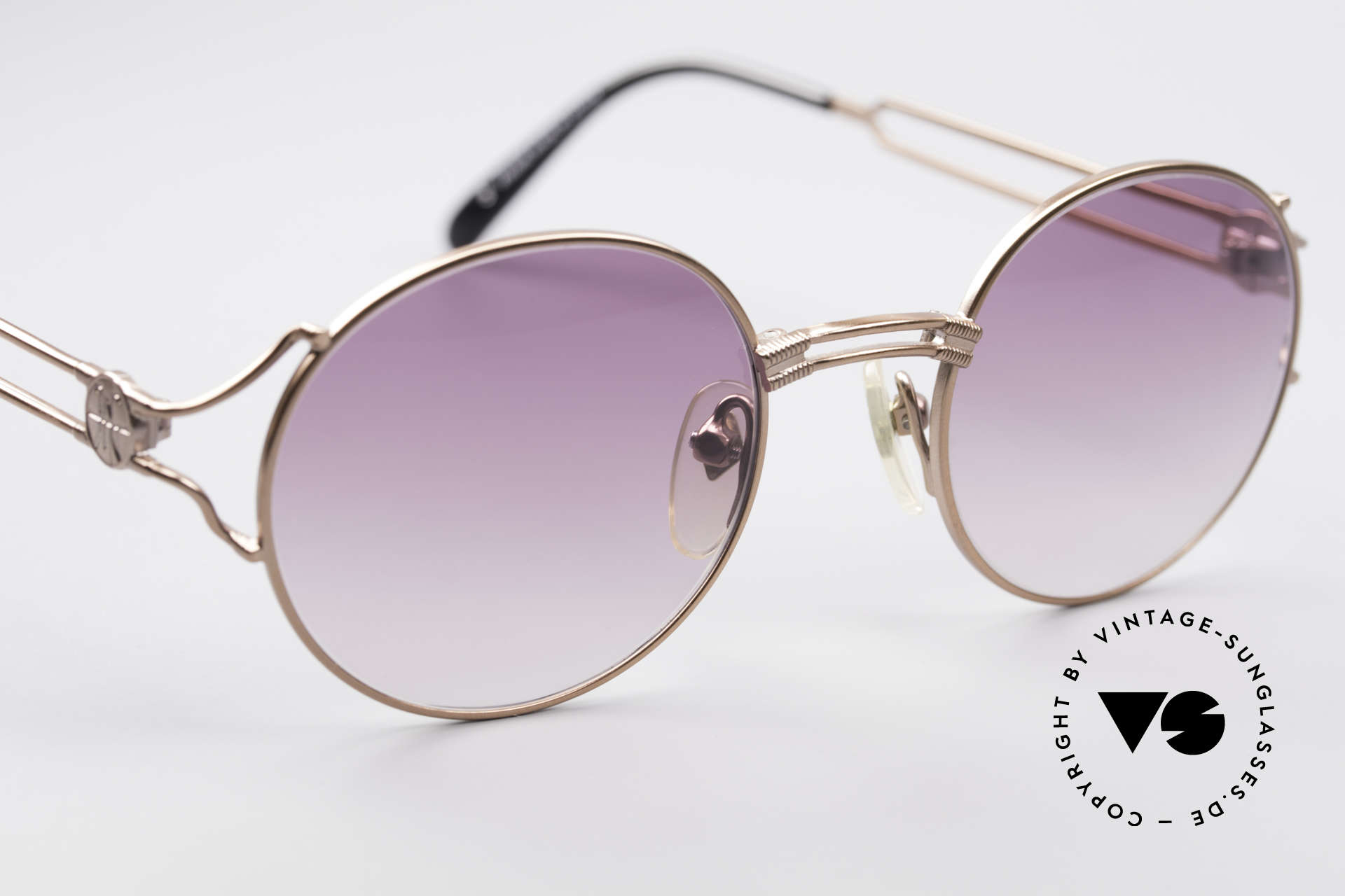 Jean Paul Gaultier 57-6102 Round Designer Sunglasses, NO RETRO shades; but an old JPG ORIGINAL from 1996, Made for Men and Women