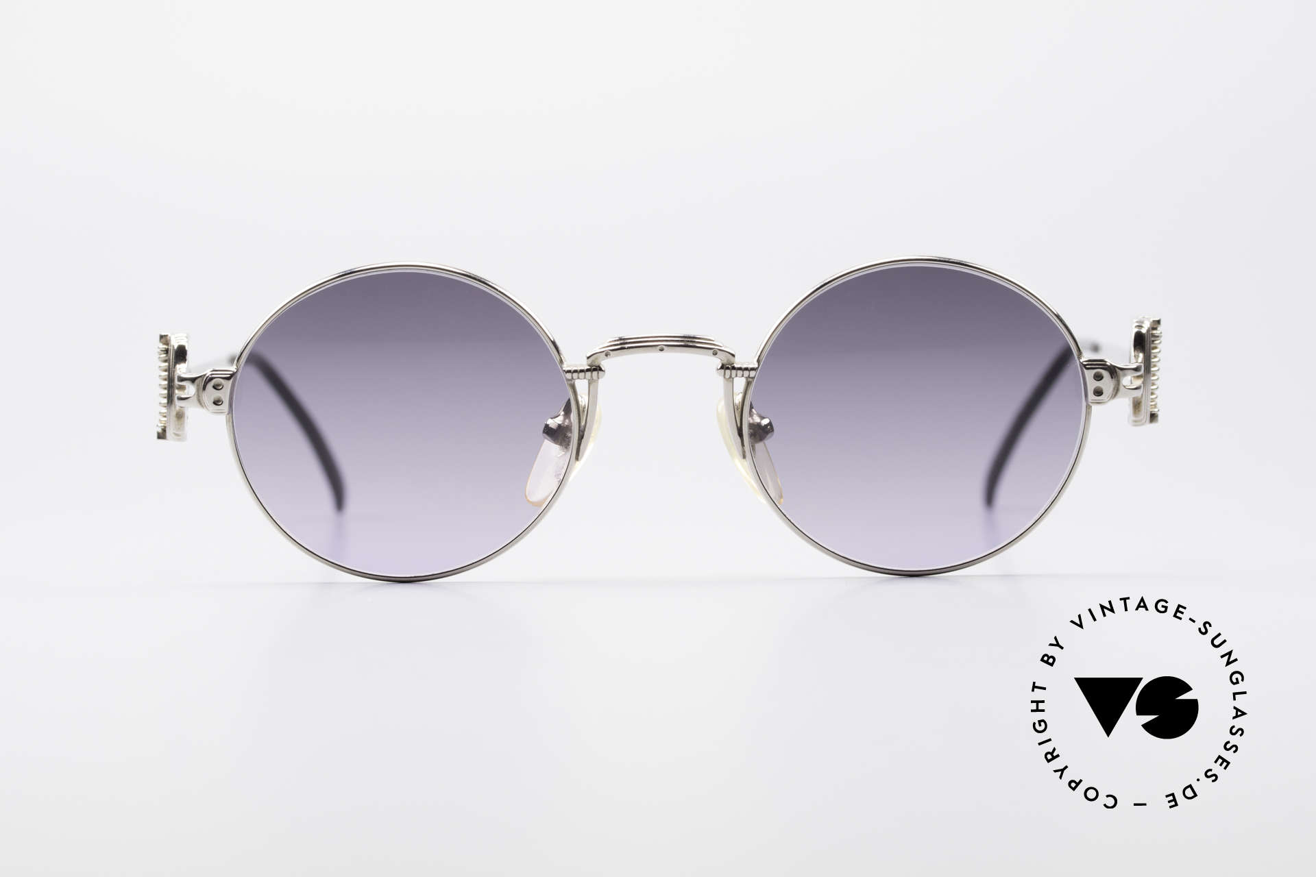 Jean Paul Gaultier 55-5106 Steampunk Sunglasses, lightweight frame with many fancy details (check pics!), Made for Men and Women
