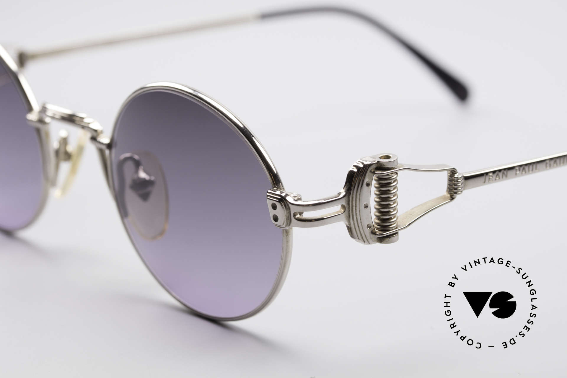Jean Paul Gaultier 55-5106 Steampunk Sunglasses, gray-purple gradient lenses; just fancy & 100% UV prot., Made for Men and Women