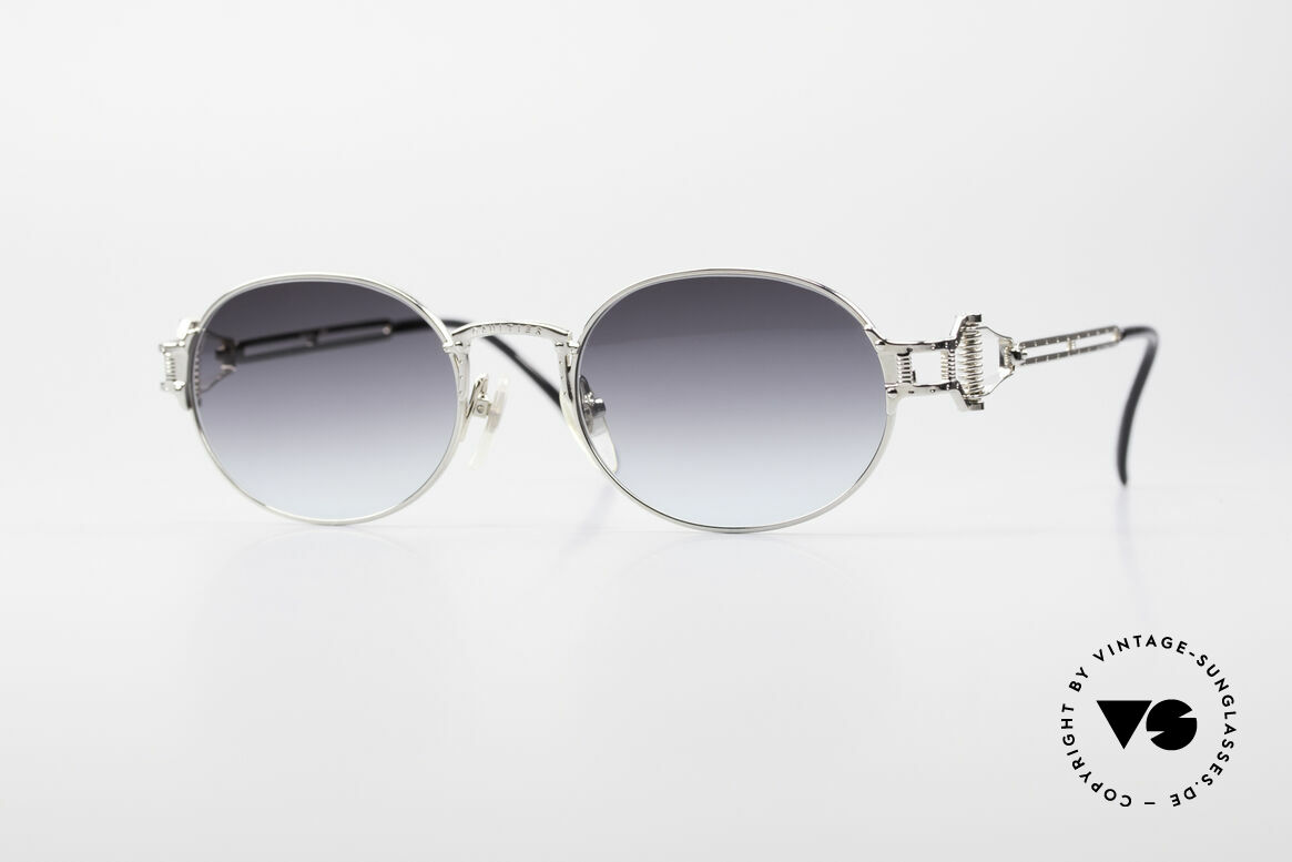 Jean Paul Gaultier 55-5110 Extraordinary Vintage Frame, extraordinary Jean Paul Gaultier 90's sunglasses, Made for Men and Women