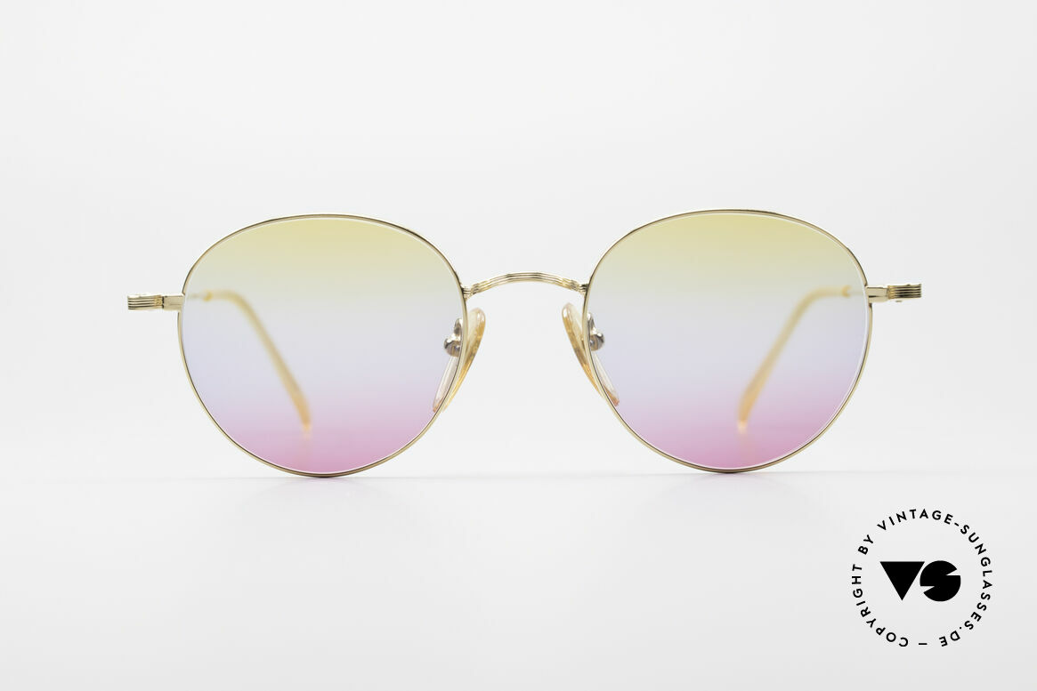 Jean Paul Gaultier 55-1174 Gold Plated Panto Frame, costly, luxury frame finish: 22kt GP = GOLD PLATED, Made for Men and Women