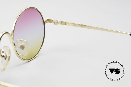 Jean Paul Gaultier 55-9671 Gold Plated Round Frame, frame can be glazed with optical lenses, too!, Made for Men and Women