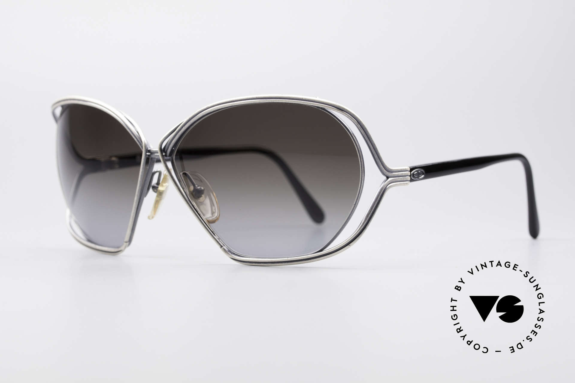 Christian Dior 2499 Ladies Sunglasses 80's, artistical wired metal frame (unique & full of verve), Made for Women