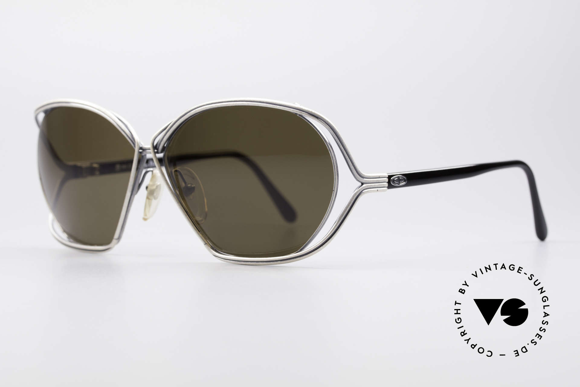 Christian Dior 2499 1980's Ladies Sunglasses, artistical wired metal frame (unique & full of verve), Made for Women