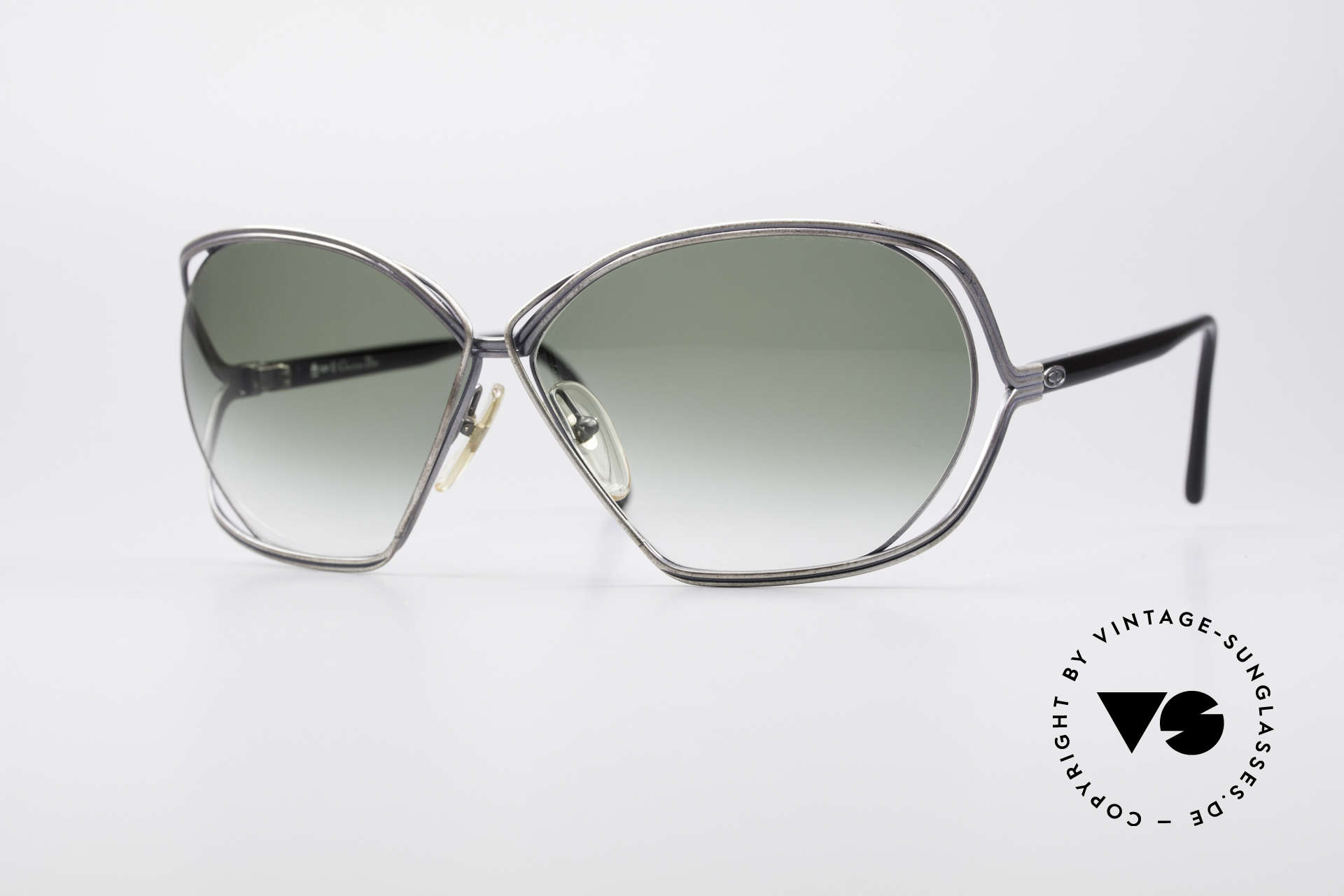 Christian Dior 2499 Ladies XL 80's Sunglasses, glamorous ladies' designer sunglasses of the 1980's, Made for Women