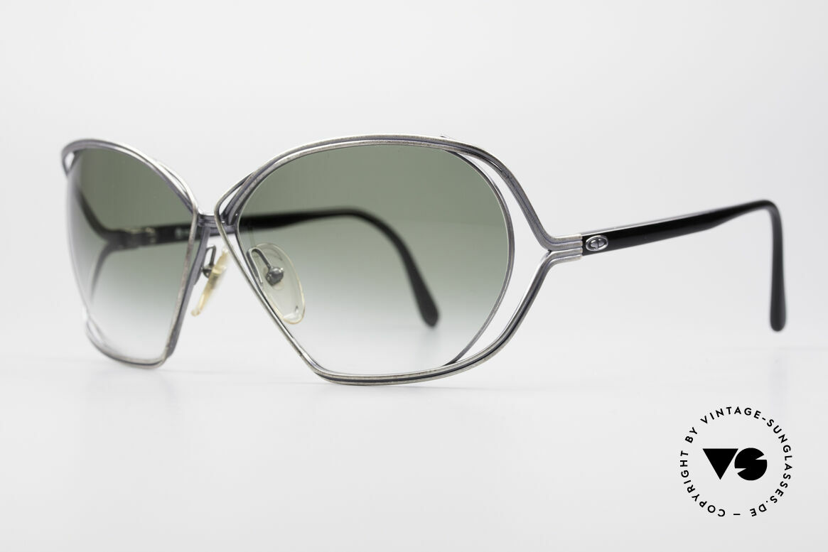 Christian Dior 2499 Ladies XL 80's Sunglasses, artistical wired metal frame (unique & full of verve), Made for Women