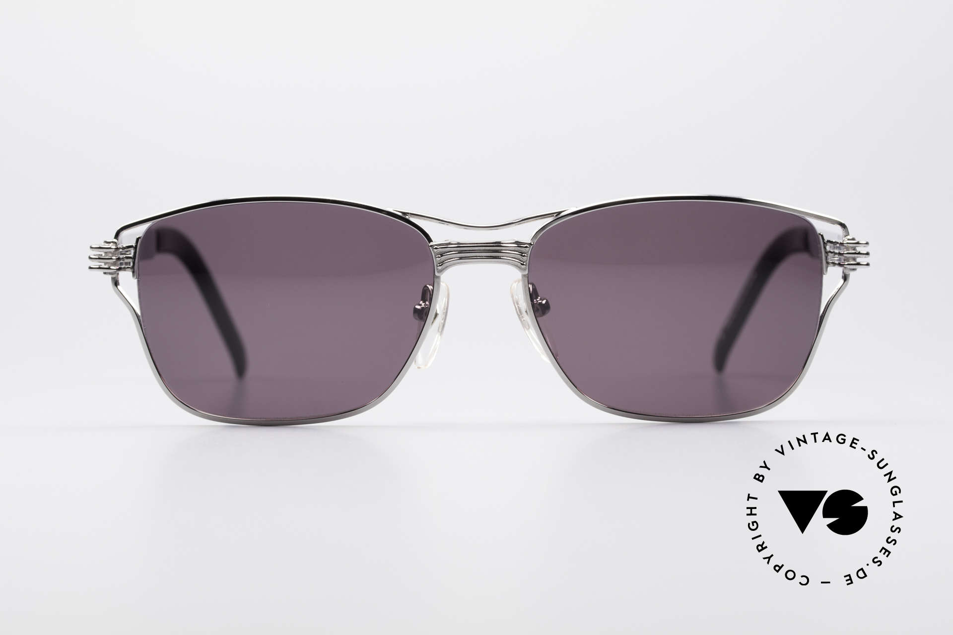 Jean Paul Gaultier 56-4173 Striking Square Sunglasses, mechanical / industrial design (distinctive JPG), Made for Men