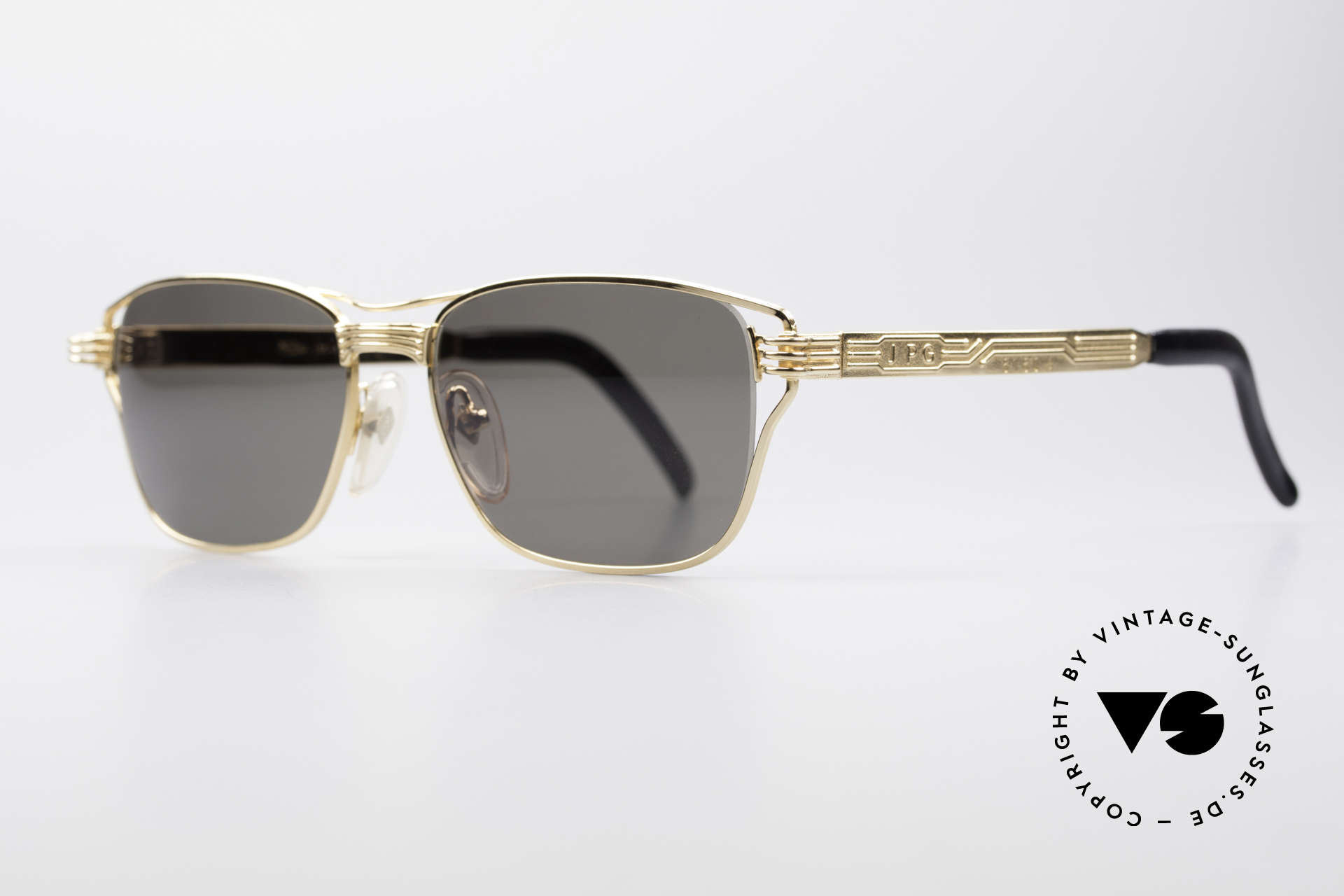 Jean Paul Gaultier 56-4173 Square Designer Sunglasses, interesting metal frame with many costly details, Made for Men