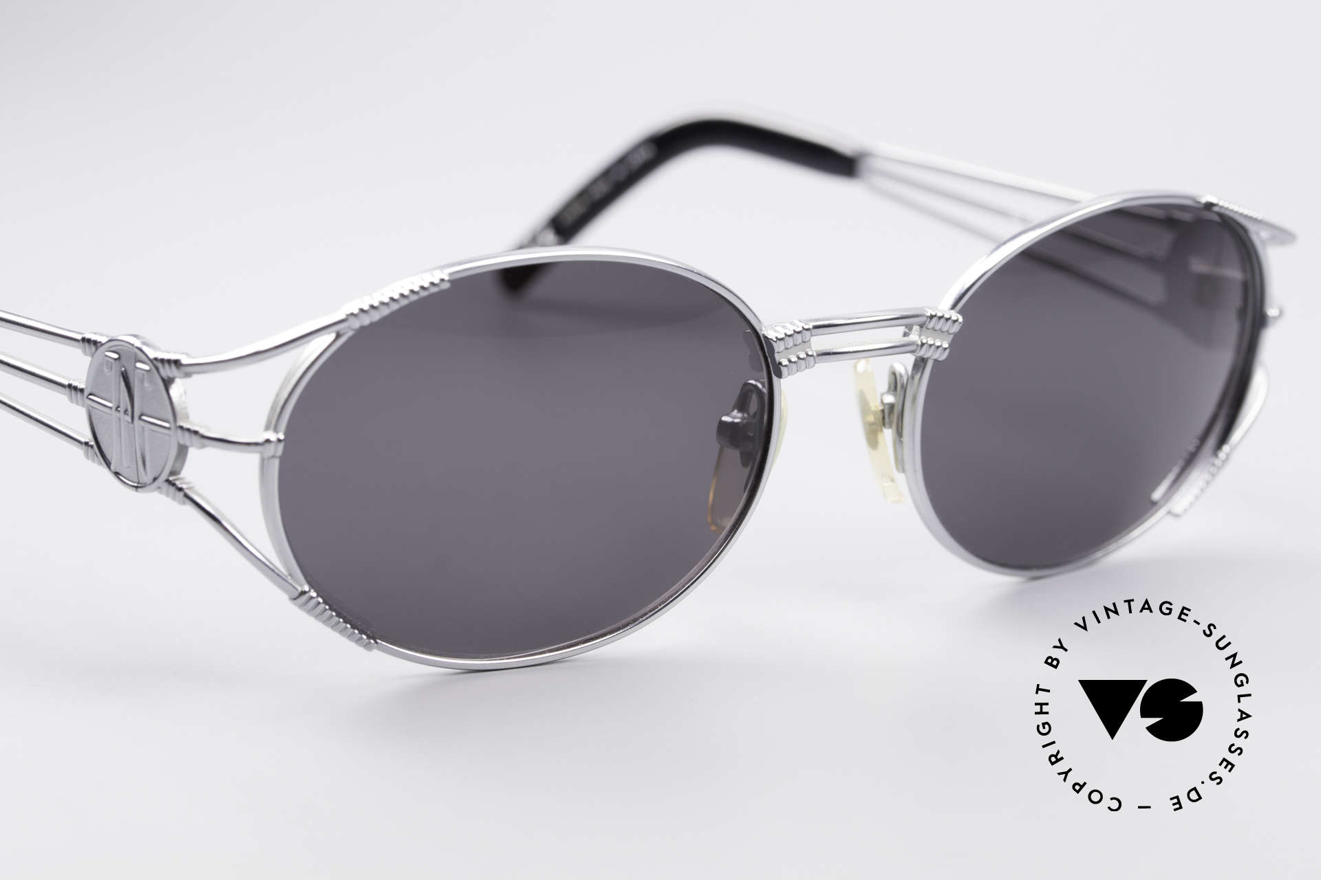 Jean Paul Gaultier 58-5106 Oval JPG Steampunk Shades, NO RETRO sunglasses, but a 20 years old original, Made for Men and Women