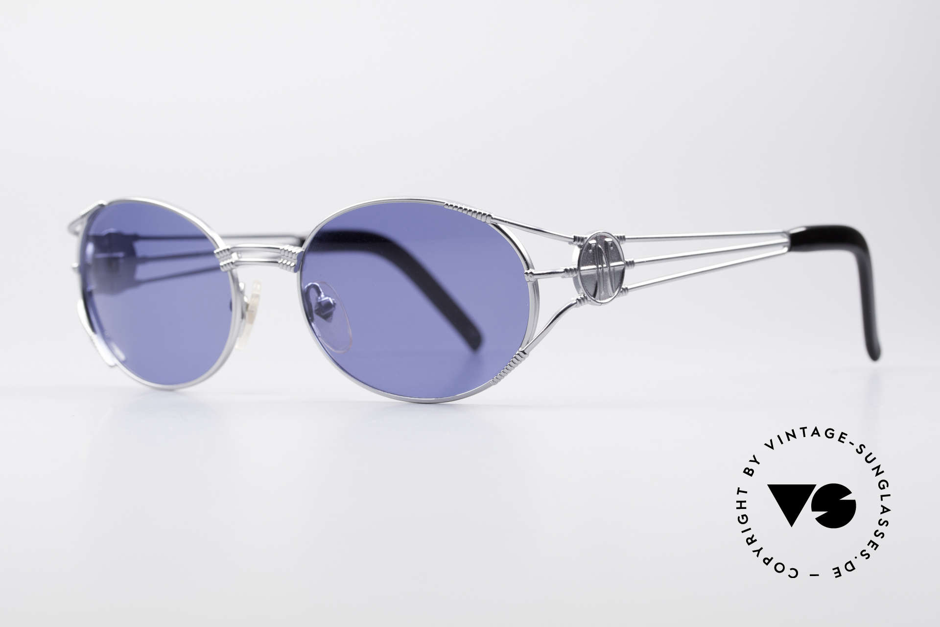 "Jean Paul Gaultier 58-5106 JPG Oval Steampunk Shades, often called as ""Steampunk Shades"" in these days, Made for Men and Women"