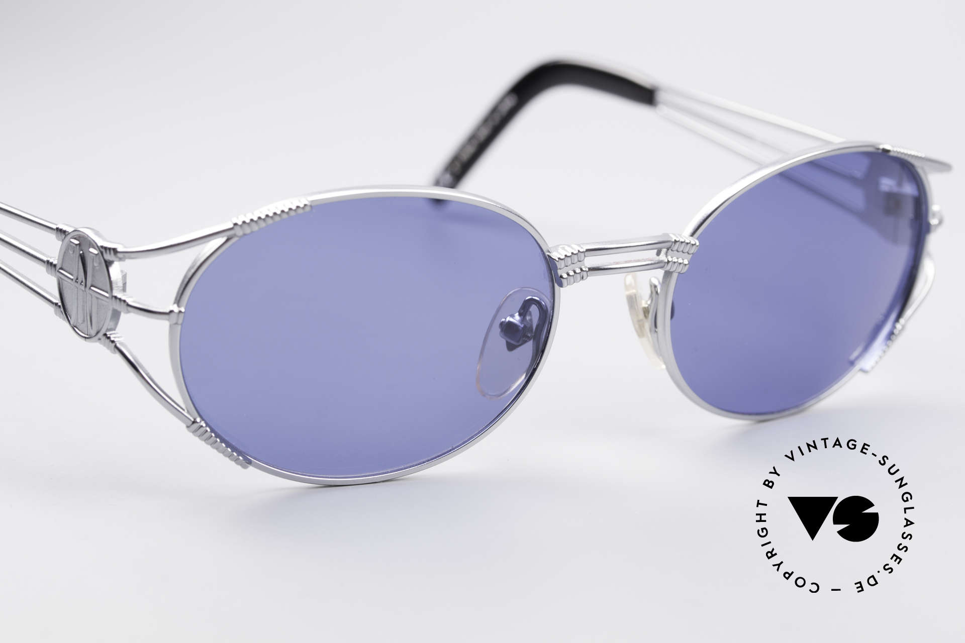 Jean Paul Gaultier 58-5106 JPG Oval Steampunk Shades, NO RETRO sunglasses, but a 20 years old original, Made for Men and Women