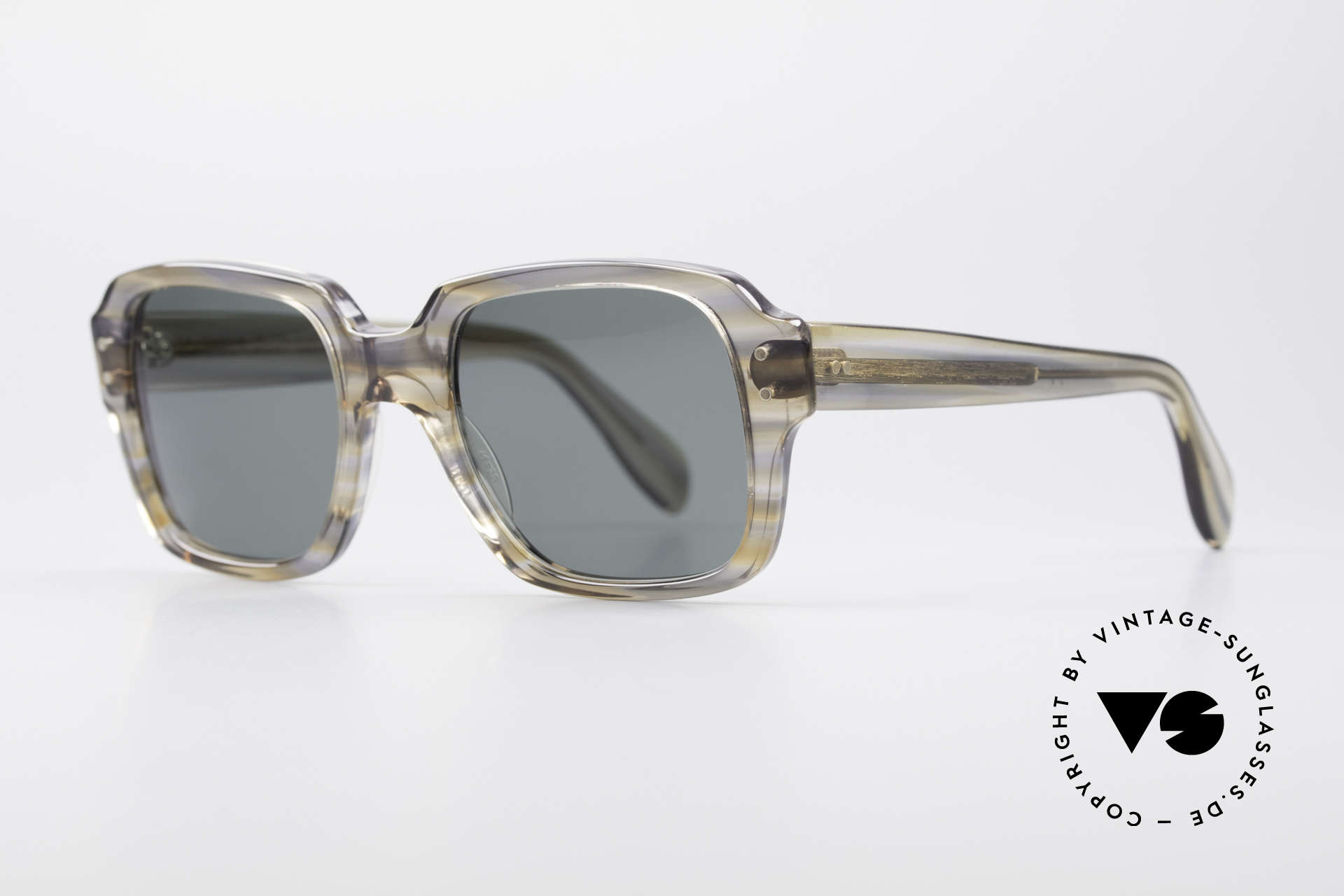 Metzler 448 Small 70's Sunglasses, massive frame, top craftsmanship; SMALL size 46-20, Made for Men