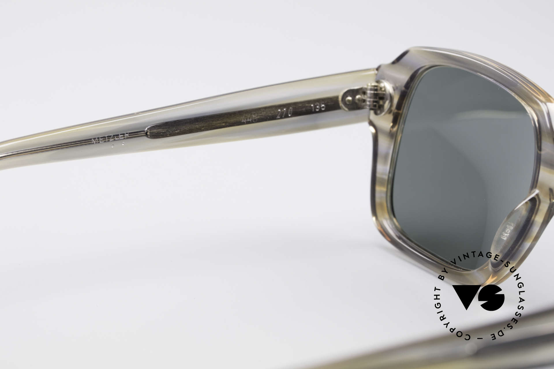 Metzler 448 Small 70's Sunglasses, the frame is made for lenses of any kind (optical / sun), Made for Men