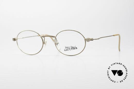Jean Paul Gaultier 55-6105 Oval Vintage Eyeglass-Frame Details