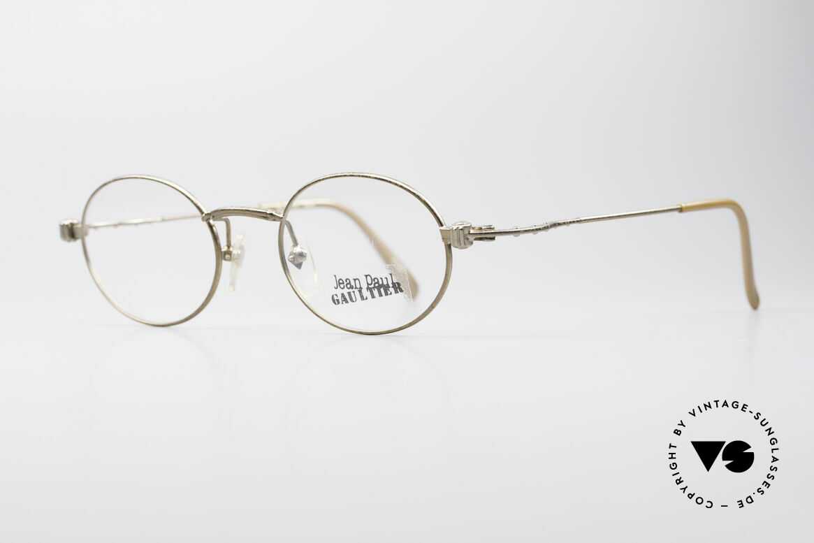 Jean Paul Gaultier 55-6105 Oval Vintage Eyeglass-Frame, high-end frame (typically Gaultier); made in JAPAN, Made for Men and Women