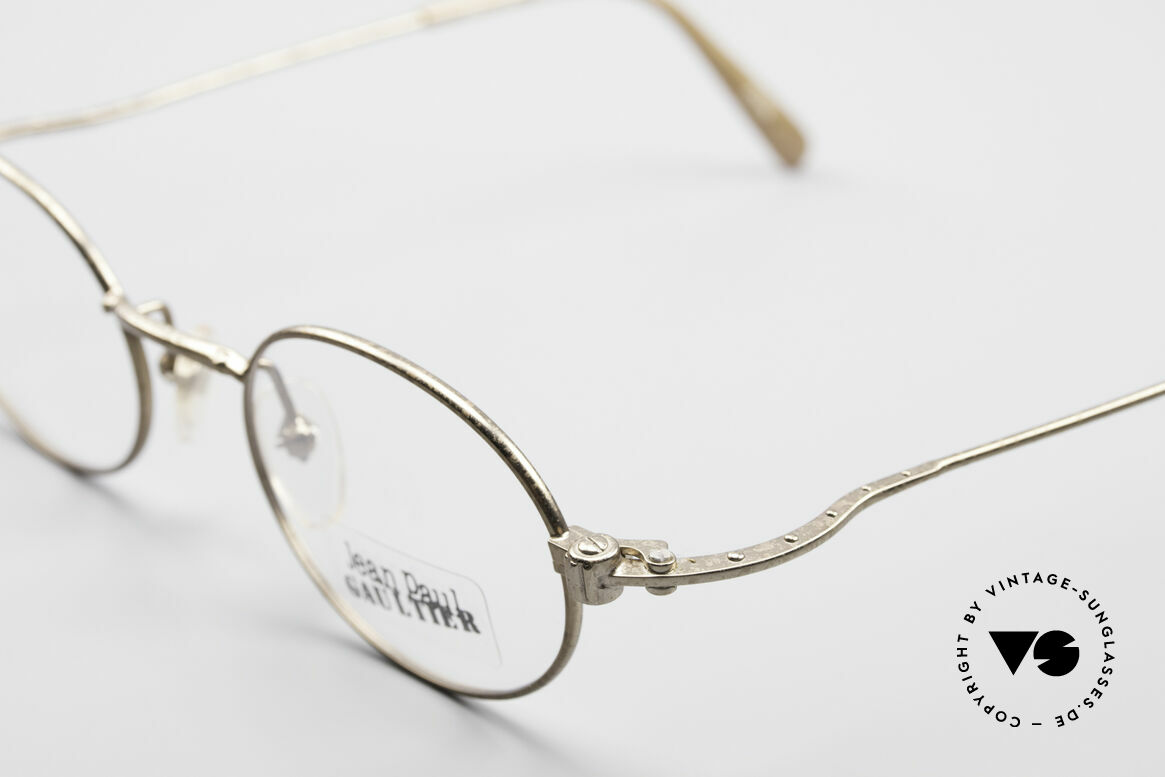 Jean Paul Gaultier 55-6105 Oval Vintage Eyeglass-Frame, unworn (like all our rare old 1990's designer glasses), Made for Men and Women