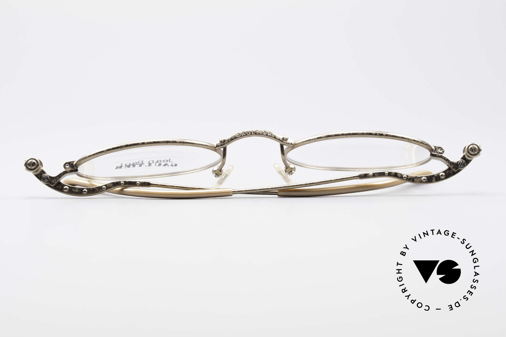 Jean Paul Gaultier 55-6105 Oval Vintage Eyeglass-Frame, the frame is made for optical or sun lenses optionally, Made for Men and Women