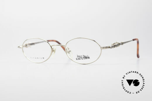 Jean Paul Gaultier 55-0039 Oval Titanium Frame Details