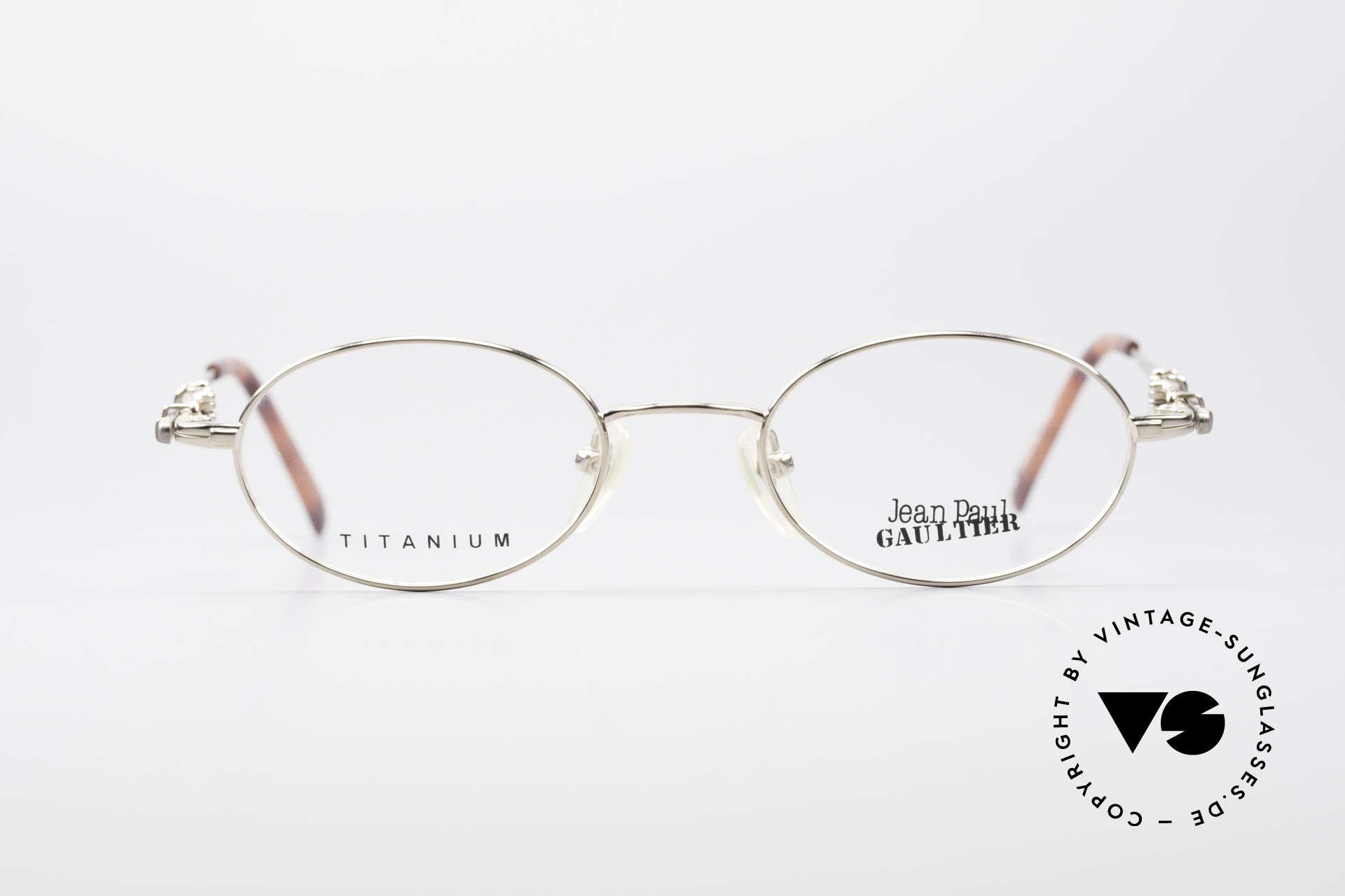 b8f44cdcdb1 Glasses Jean Paul Gaultier 55-0039 Oval Titanium Frame