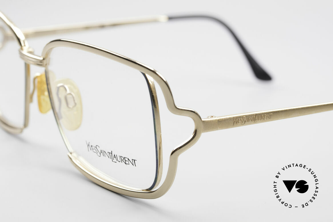 Yves Saint Laurent 4046 Vintage Ladies Eyeglasses, color is Y153: gold-plated / mint green metallic, Made for Women