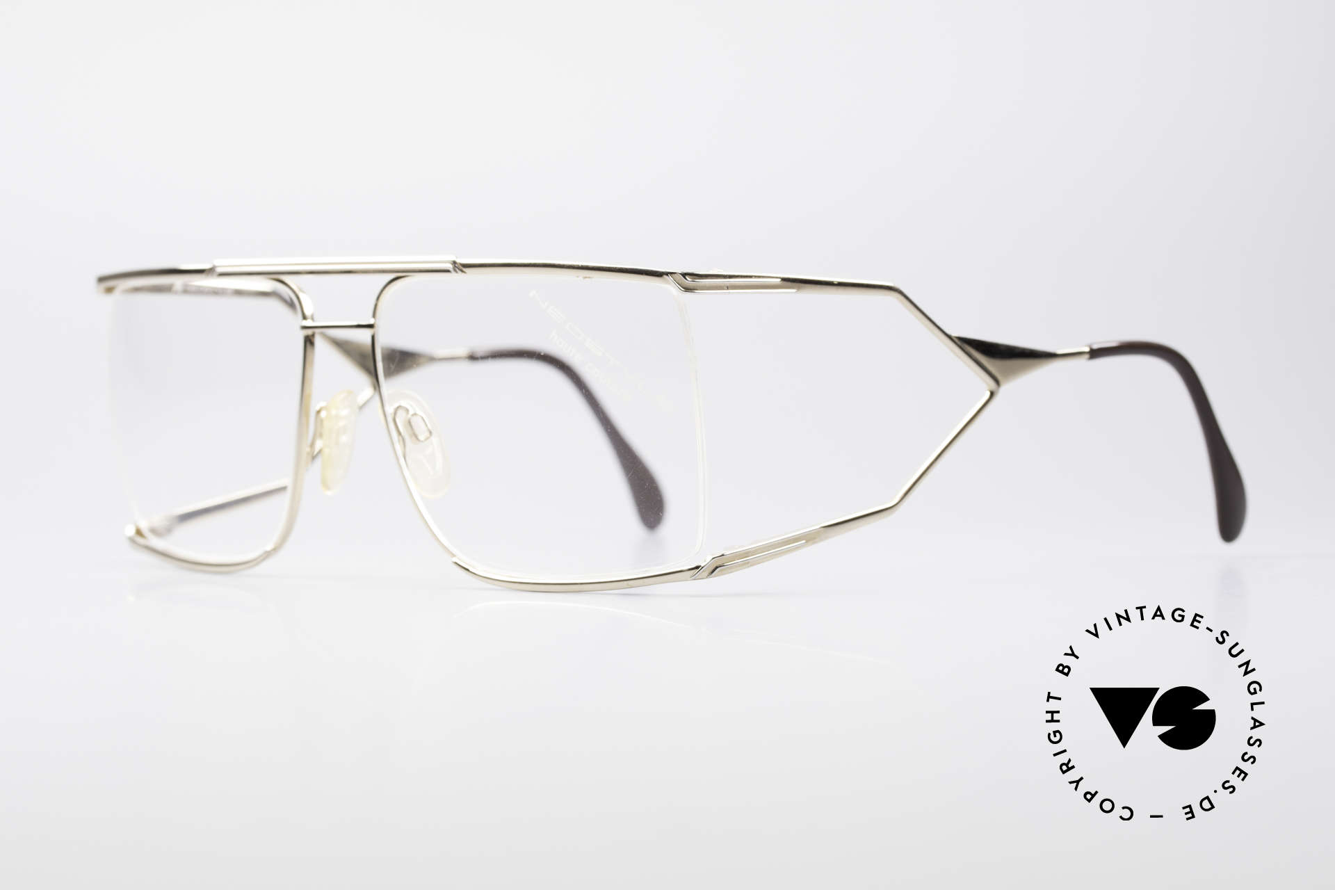 Neostyle Nautic 6 80's Miami Vice Eyeglasses, worn by actor Joseph TURKEL in Miami Vice, 1988, Made for Men