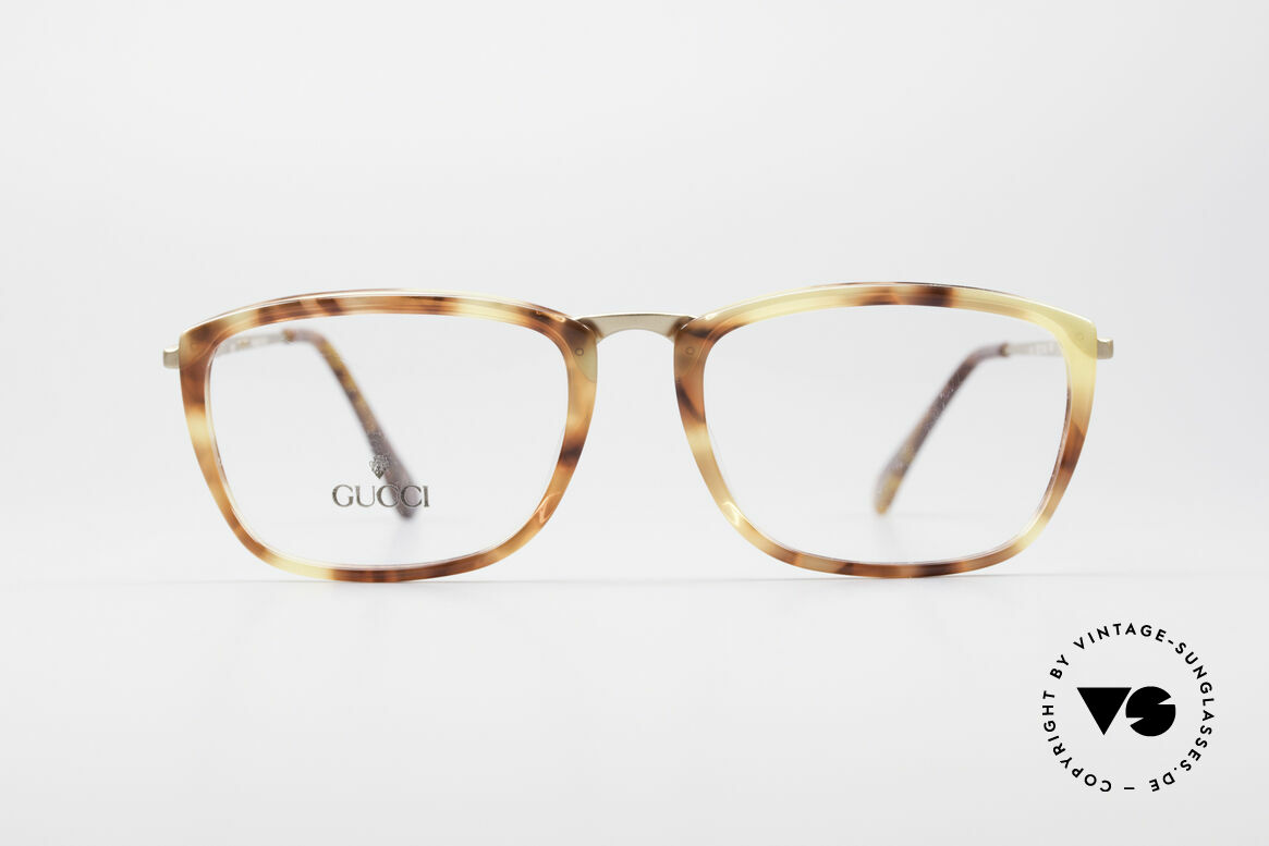 Gucci 1140 Ladies & Gents Eyeglasses, vintage 1980's eyeglasses by GUCCI with amber look, Made for Men and Women