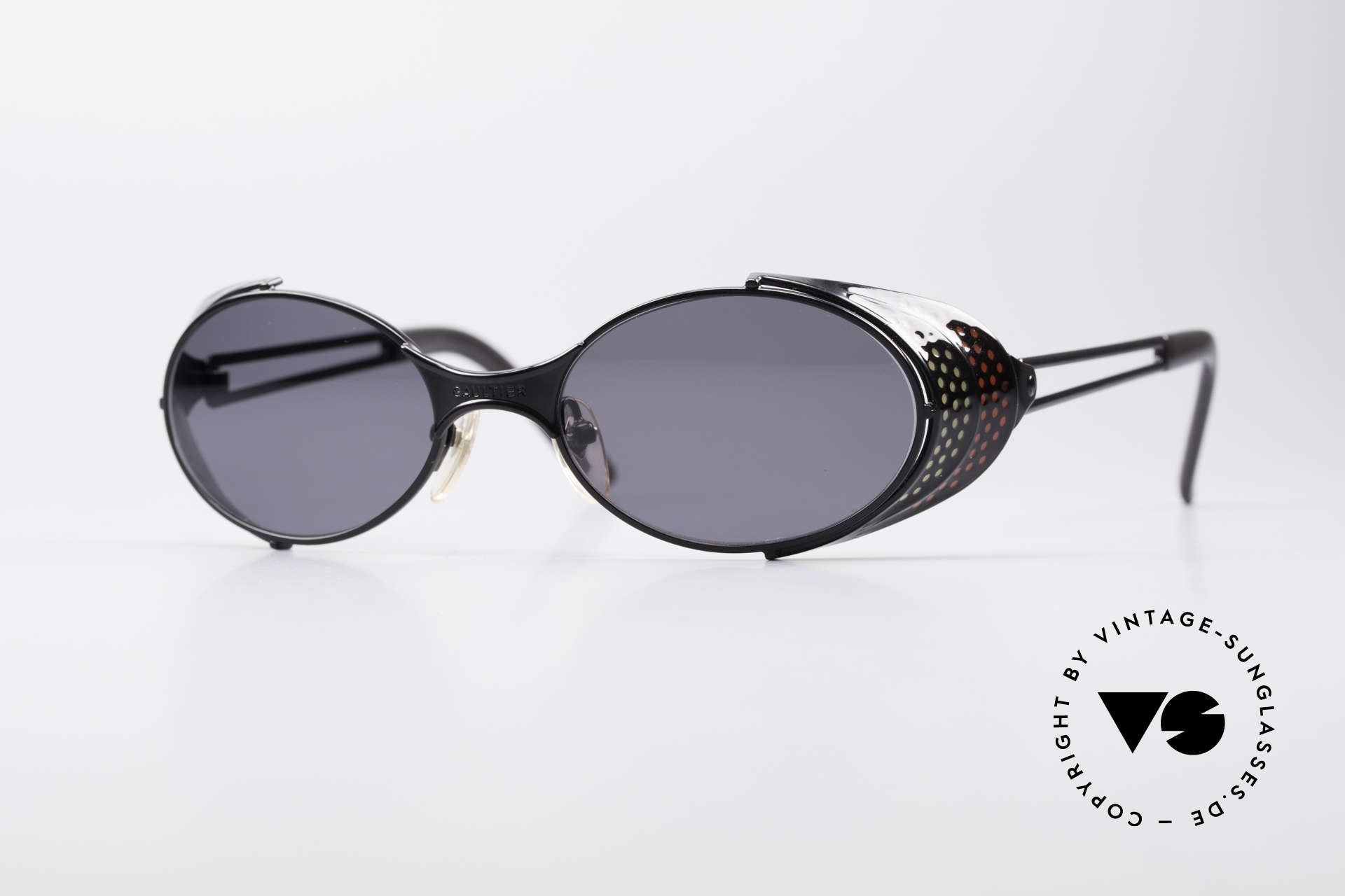 Jean Paul Gaultier 56-7109 JPG Steampunk Sunglasses, vintage Gaultier designer sunglasses from the mid 90's, Made for Men and Women