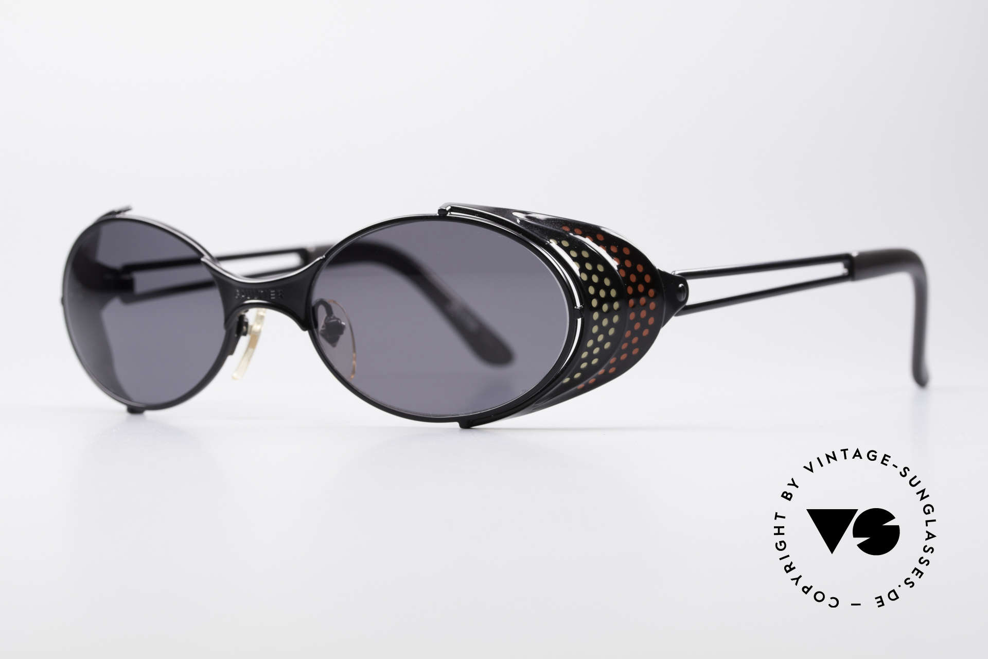 """Jean Paul Gaultier 56-7109 JPG Steampunk Sunglasses, many very interesting """"retro-futuristic"""" frame elements, Made for Men and Women"""