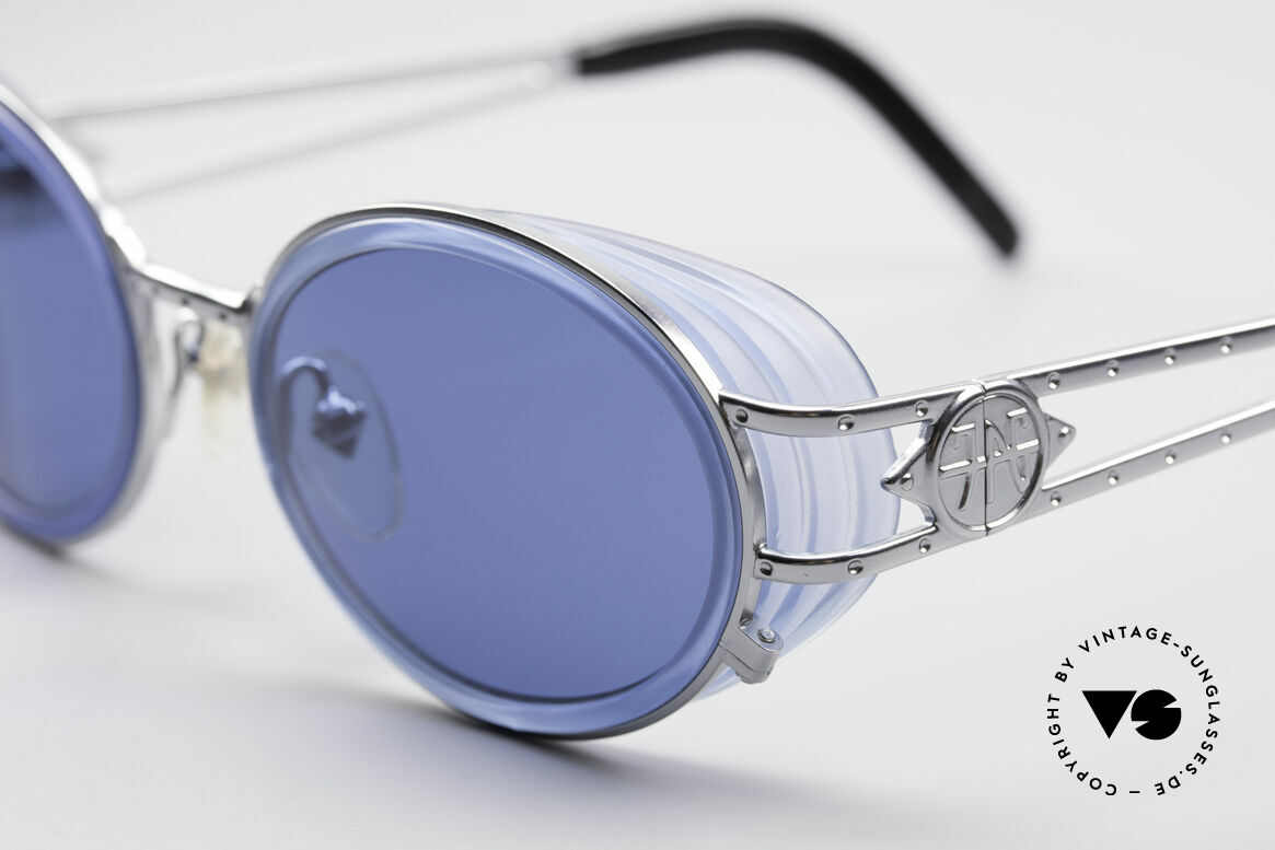 """Jean Paul Gaultier 58-6202 Side Shields Vintage Shades, often called as """"steampunk sunglasses"""" in these days, Made for Men and Women"""