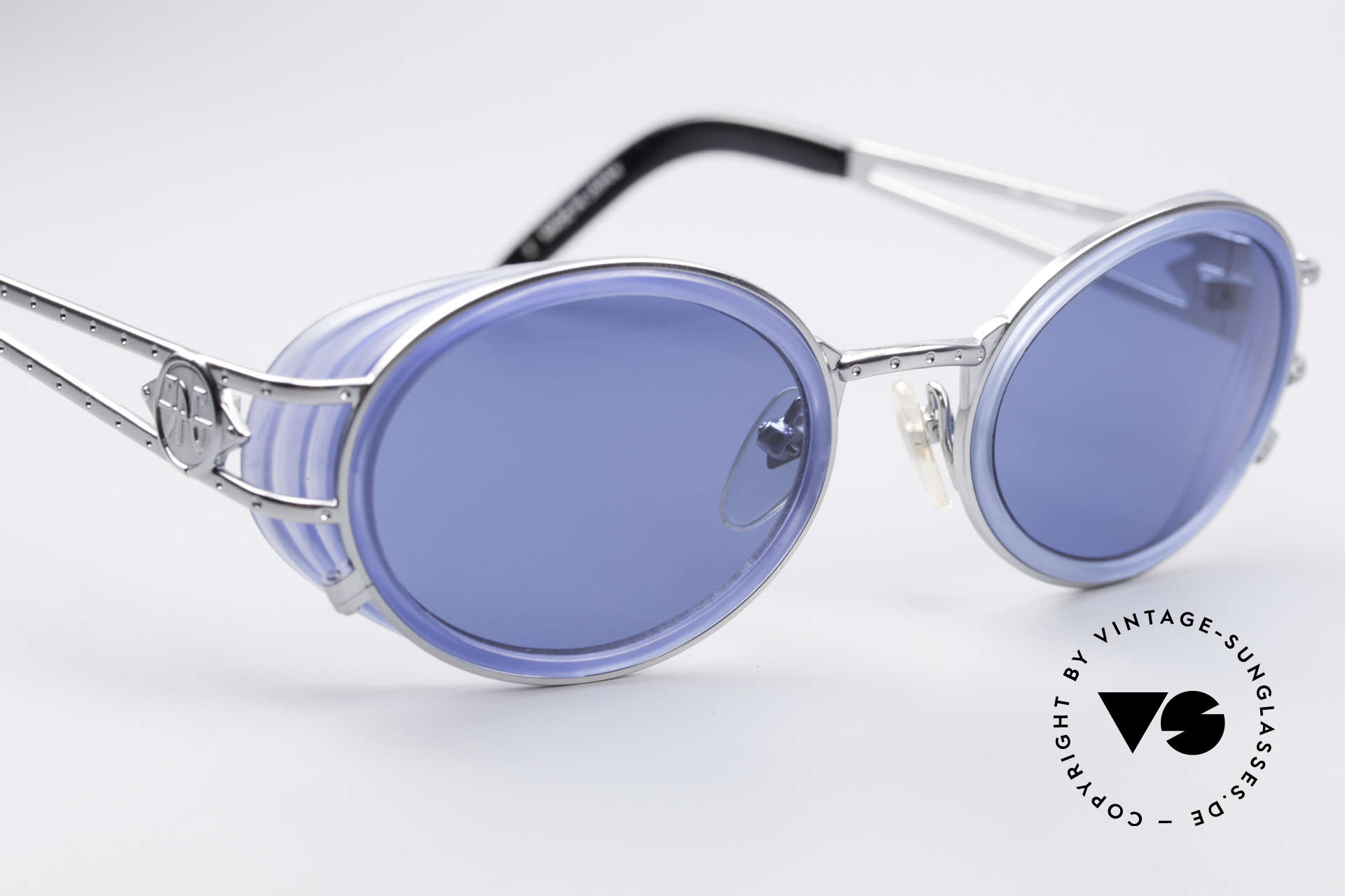 Jean Paul Gaultier 58-6202 Side Shields Vintage Shades, unworn original from 1998 with orig. JP Gaultier case, Made for Men and Women