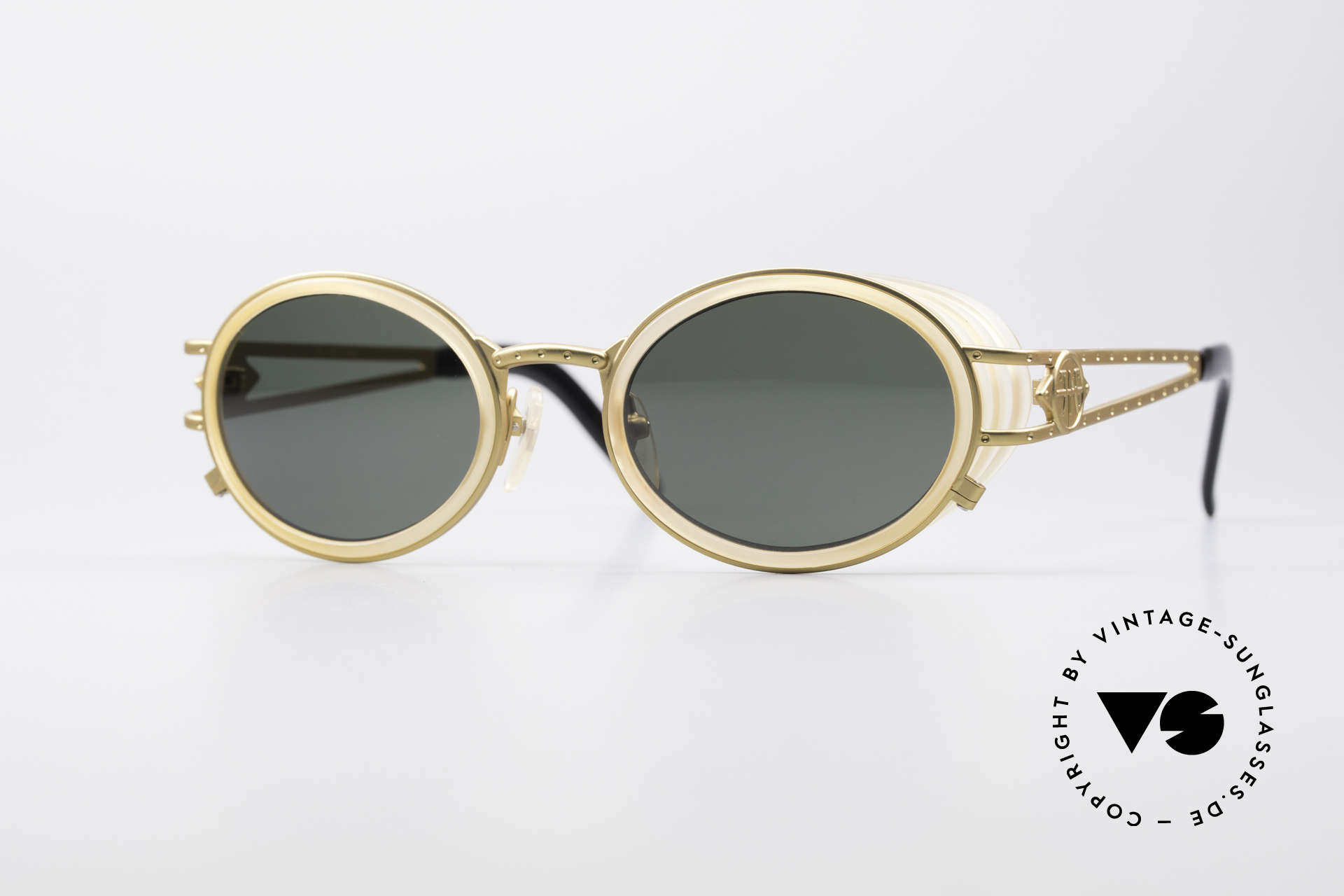 Jean Paul Gaultier 58-6202 Side Shields Sunglasses, outstanding designer shades by Jean Paul GAULTIER, Made for Men and Women
