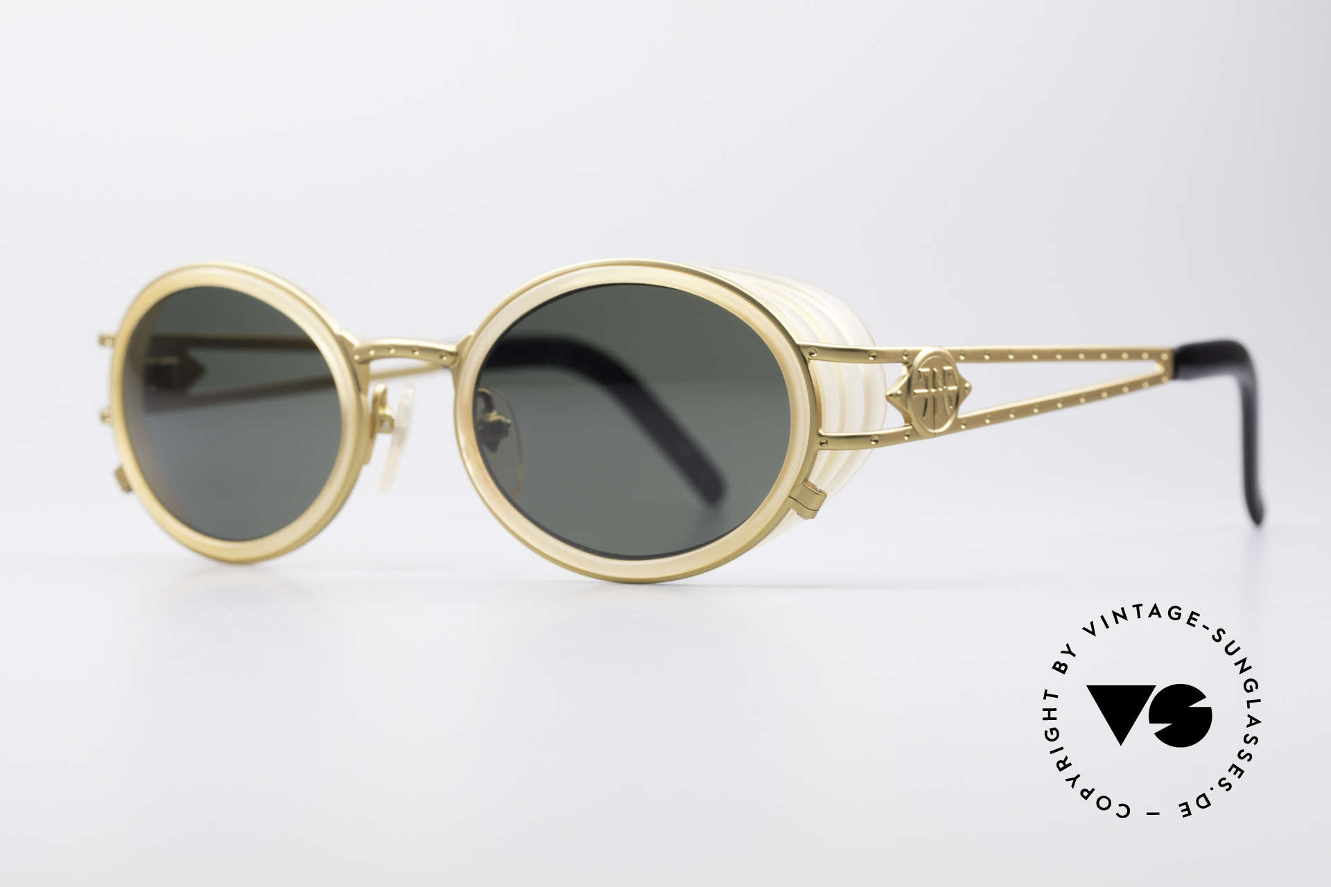 Jean Paul Gaultier 58-6202 Side Shields Sunglasses, very creative frame: high-end quality (made in Japan), Made for Men and Women