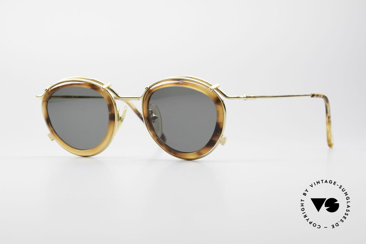 Jean Paul Gaultier 56-2271 Steampunk Designer Shades, rare vintage Jean Paul Gaultier sunglasses from 1995, Made for Men and Women