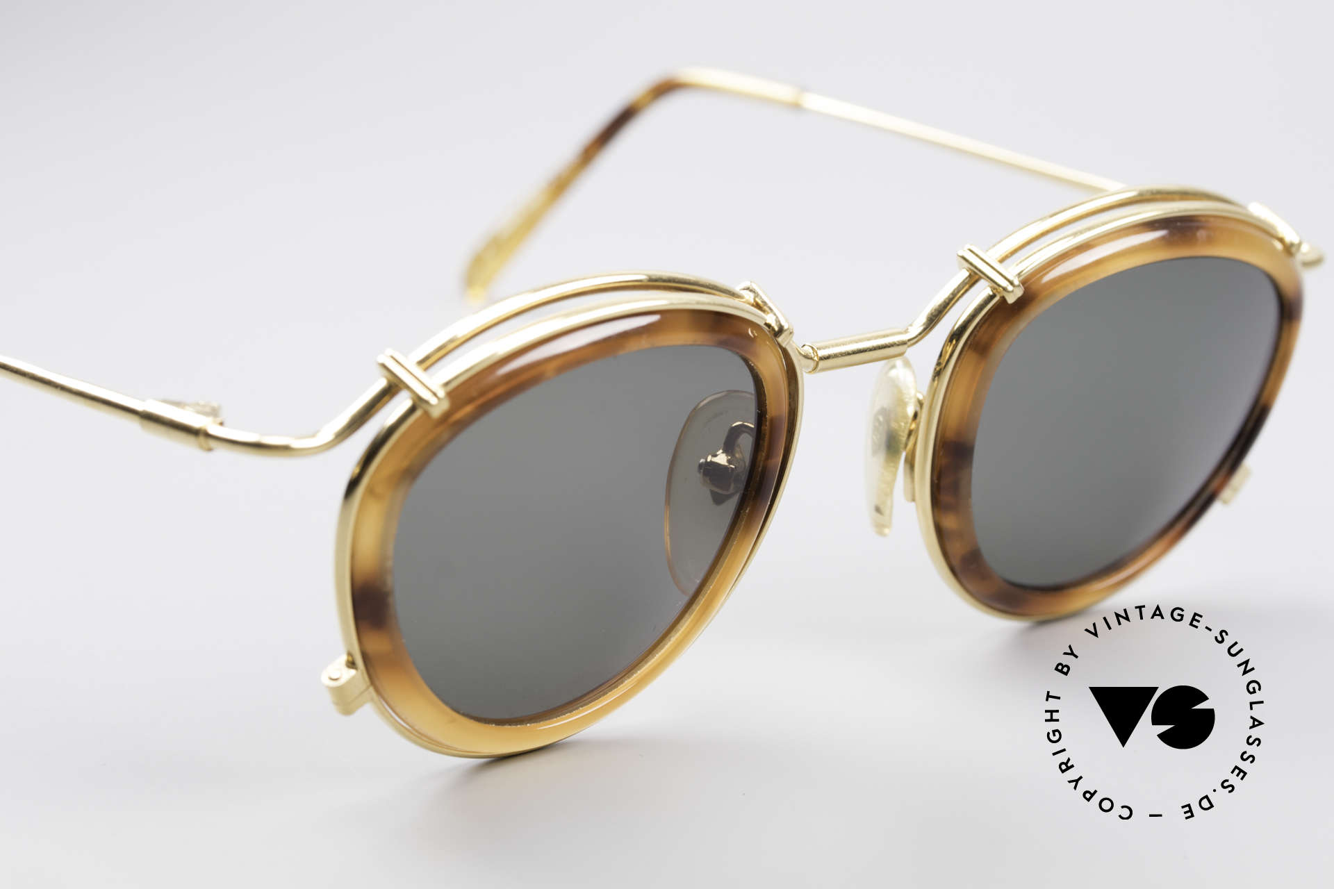 Jean Paul Gaultier 56-2271 Steampunk Designer Shades, new old stock (like all our vintage JP Gaultier shades), Made for Men and Women