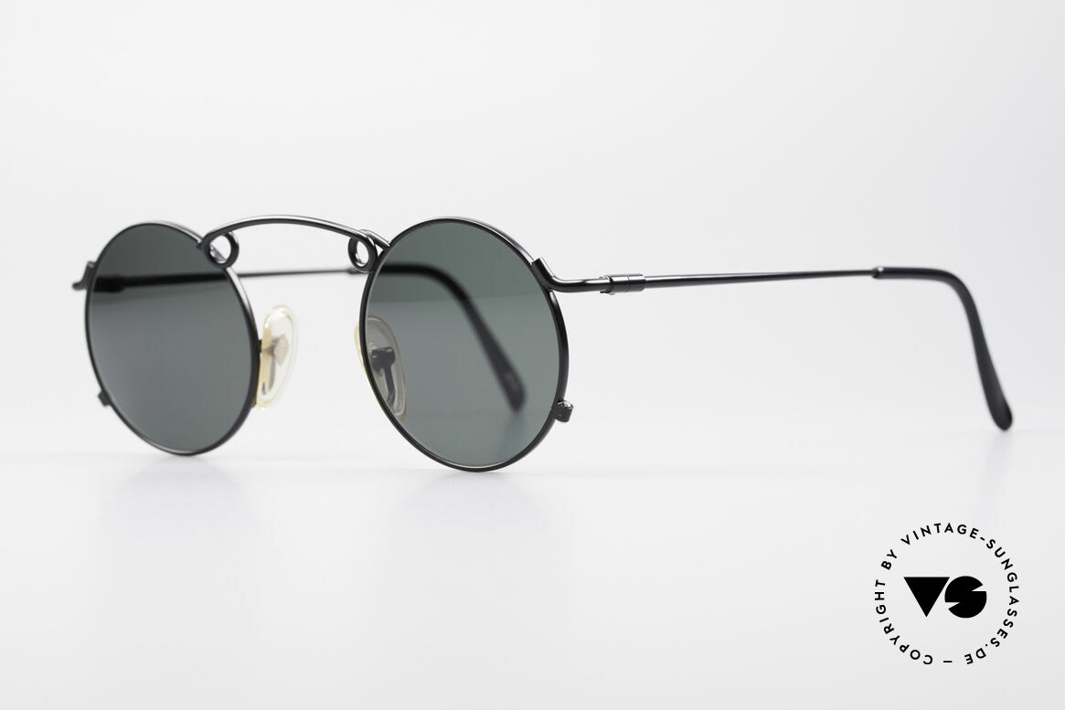 Jean Paul Gaultier 56-1178 Artful Panto Sunglasses, top-notch craftsmanship (built to last); black color, Made for Men and Women