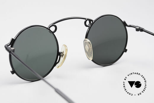 Jean Paul Gaultier 56-1178 Artful Panto Sunglasses, the gray-green sun lenses can be replaced optionally, Made for Men and Women