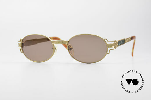Jean Paul Gaultier 58-5105 Oval Designer Sunglasses Details