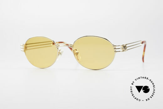 Jean Paul Gaultier 57-5107 Gold-Plated Oval Sunglasses Details