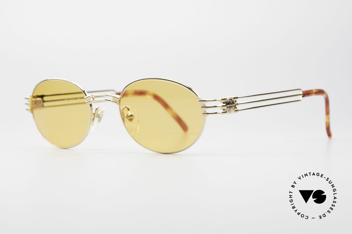 Jean Paul Gaultier 57-5107 Gold-Plated Oval Sunglasses