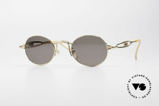 Jean Paul Gaultier 56-7108 Gold-Plated Oval Sunglasses Details