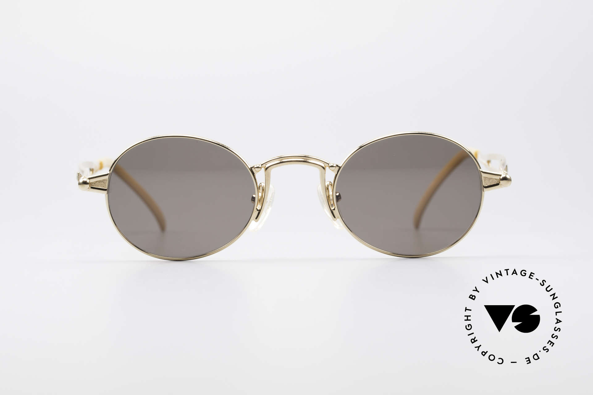 1698fbbcd Sunglasses Jean Paul Gaultier 56-7108 Gold-Plated Oval Sunglasses ...