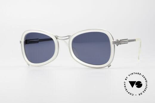 Jean Paul Gaultier 56-1271 90's Steampunk Sunglasses Details
