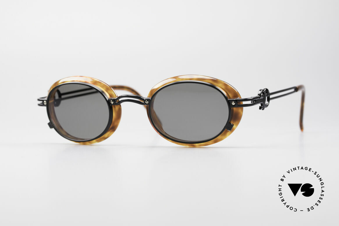 Jean Paul Gaultier 58-5201 Rare 90's Steampunk Shades, fantastic Jean Paul GAULTIER vintage sunglasses, Made for Men and Women
