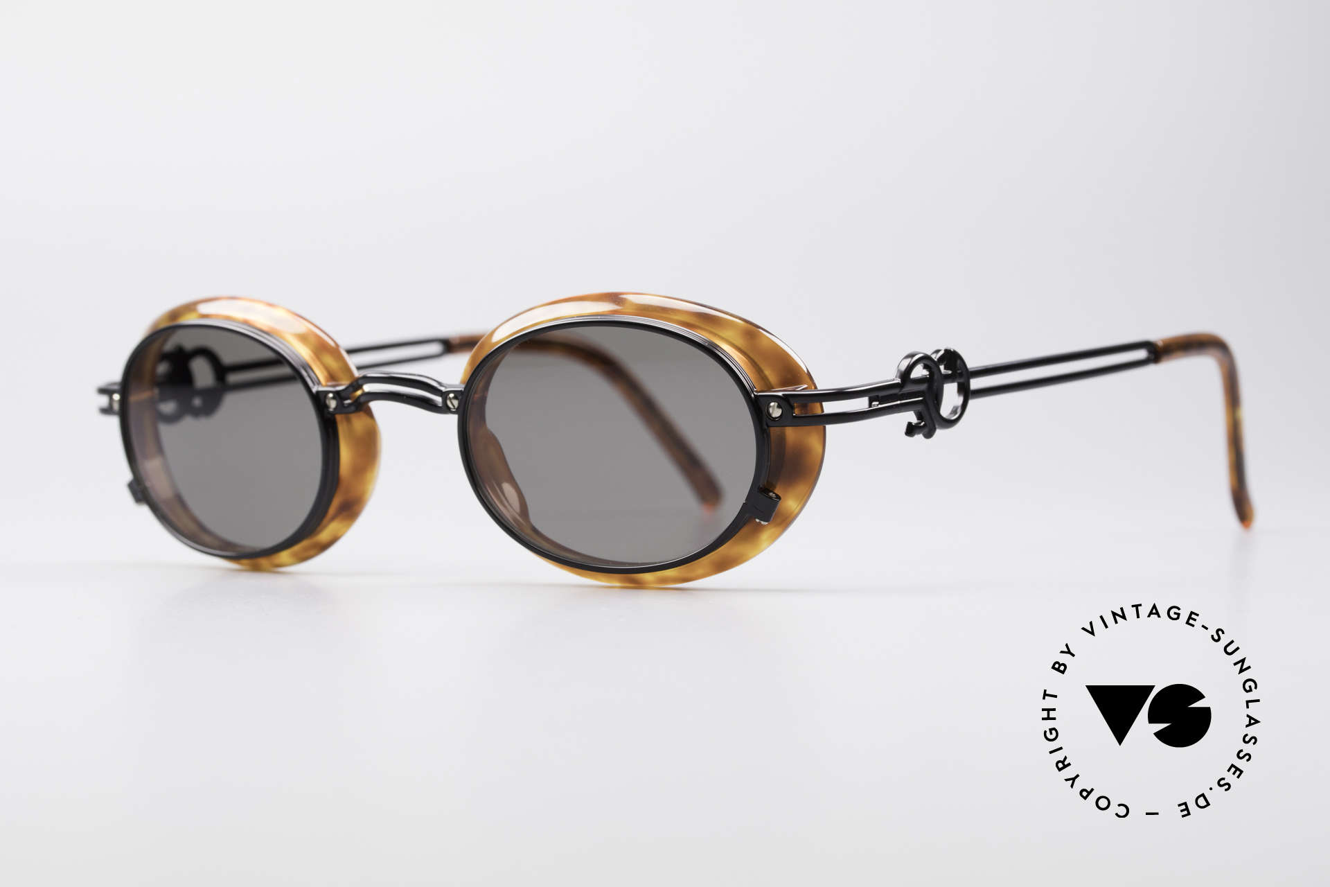 Jean Paul Gaultier 58-5201 Rare 90's Steampunk Shades, true rarity in high-end quality (100% UV protect.), Made for Men and Women