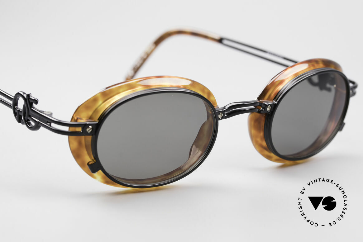 Jean Paul Gaultier 58-5201 Rare 90's Steampunk Shades, never worn (like all our vintage GAULTIER shades), Made for Men and Women